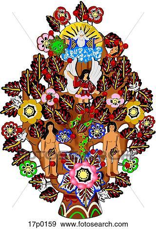 Arbol De La Vida Clip Art 17p0159