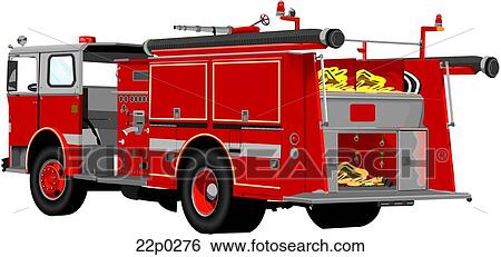 clip art of fire engine truck 22p0276 search clipart illustration rh fotosearch com clipart fire truck vector free download clipart fire truck black and white