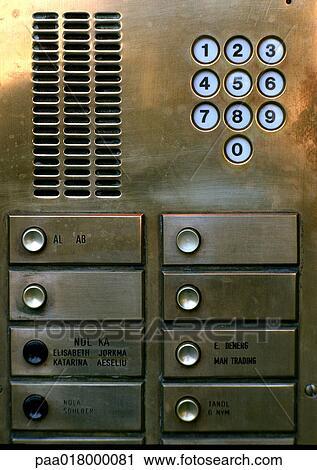 Call Box At Apartment