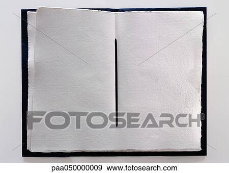 Fait Main Livre A Vide Pages Gros Plan Banque De Photo