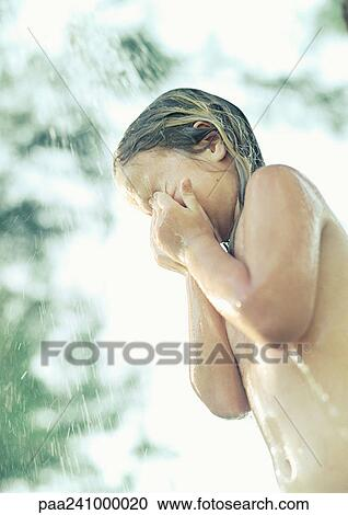 Pictures of girls taking a shower