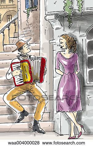 Colección De Ilustraciones Dibujo Amor Parejas Pareja