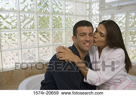 Close Up Of A Mid Woman Kissing