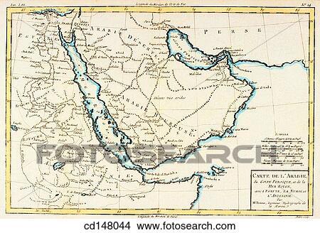 Stock Photo of Arabian Peninsula, Red Sea, Persian Gulf and part of ...
