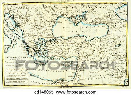 Carte Asie Mineur.Europe Meridionale Et Asie Mineure 18e Siecle Carte Banques De Photographies