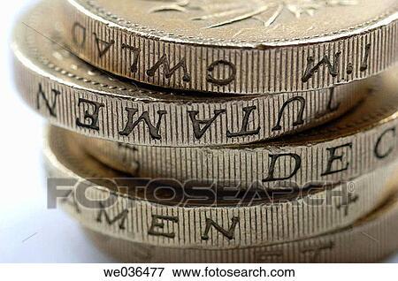 Bild A Haufen Von Englisches Pfund Sterling Geldmünzen