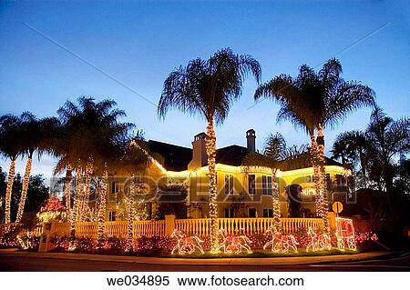 Home Christmas decorations. Nellie Gail, Orange County, Southern California