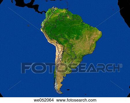 Highlighted Satellite Continent Image Of South America ... on hd map of south america, precipitation of south america, labeled map of south america, physical features of south america, statistics of south america, google maps south america, physical map of south america, thematic map of south america, large map of south america, satellite maps of homes, north america, map of africa and south america, satellite maps of usa, complete map of south america, blank outline map of south america, a blank map of south america, full map of south america, current map of south america, google earth south america, topographic map of south america,