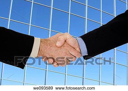 Banque de photographies deux caucasien homme affaires dans a