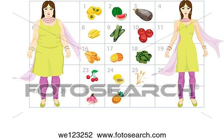 stock photo of diet calendar for fat to thin we123252 search stock
