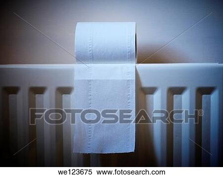 Radiator Voor Toilet : Stock image of close up of a toilet roll on radiator we
