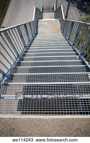 Steel Staircase Outside