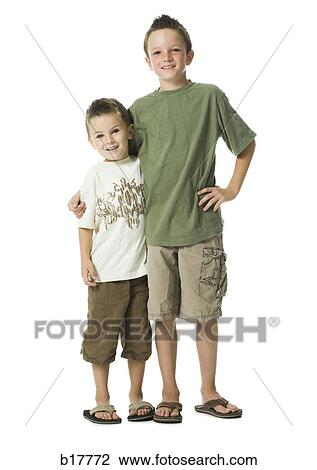 Big Brother And Little Brother Stock Image B17772 Fotosearch