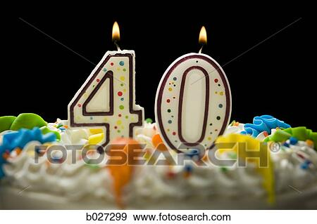 Birthday Cake With Candles That Say 40