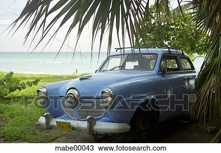 Cuba Beach Car Sea Varadero Classic
