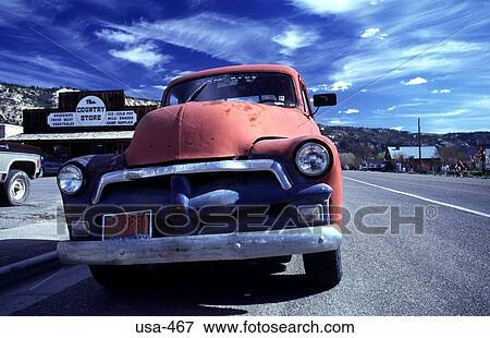 Old Chevrolet Van Utah Stock Photo | usa-467 | Fotosearch