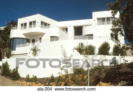 stock photo of 1920s art deco house australia ala 204 search stock