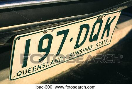 Stock Photography Of Australian Licence Plate Bac 300