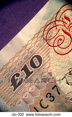 Stock Photo Of Close Up Of Ten Pounds Symbol On Note Clo 332