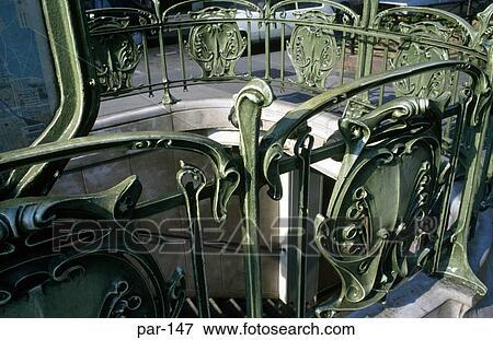 Picture of Art Nouveau Ironwork at Metro Station Paris France par ...