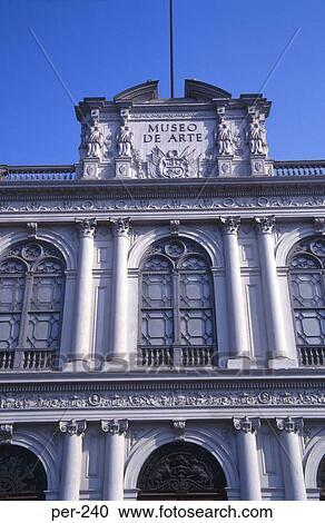 Facade Of The Museo De Arte Lima Peru Stock Photography Per 240