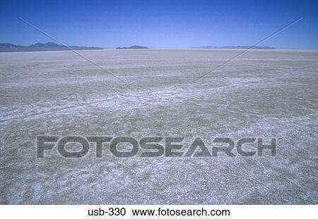 Flat White Great Salt Lake Desert Utah Usa Stock Photography Usb 330