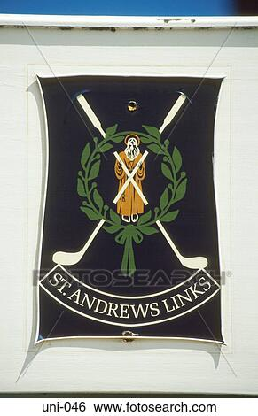 Str Andrews Golf Verbindungen Wappen Schottland Stock Fotograf