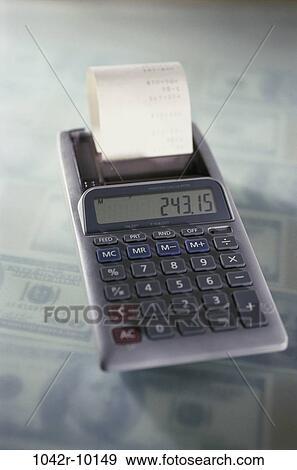 Money Calculator Business Finance Still Life Accounting Adding Machine