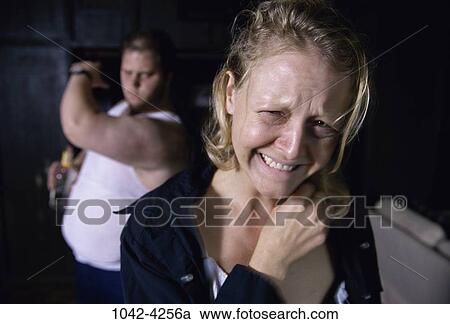 stock photography of angry couple mad violence crying anger