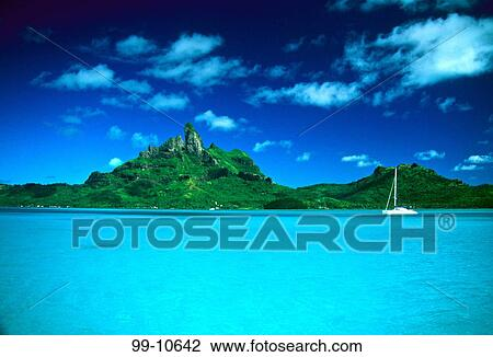 Catamaran In The Ocean Bora Bora Lagoon Resort Bora Bora