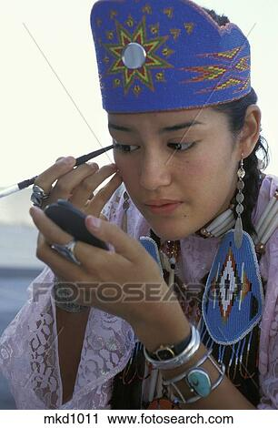 Stock Photography Of A Young Native American Princess Wearing An