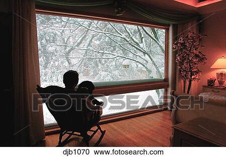 Awe Inspiring A Man Sitting With His Dog In A Rocking Chair In Front Of A Frankydiablos Diy Chair Ideas Frankydiabloscom