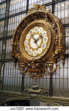 banques de photographies france paris musee d orsay les grand horloge ccc1220. Black Bedroom Furniture Sets. Home Design Ideas