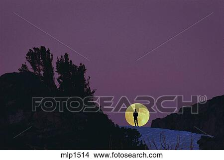 Stock Photo Of Watching The Moonrise In The Ansel Adams Wilderness