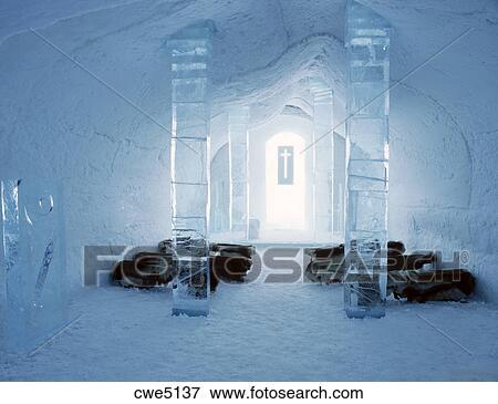 image glise int rieur de glace h tel jukkasjarvi pr s kiruna su de cwe5137. Black Bedroom Furniture Sets. Home Design Ideas