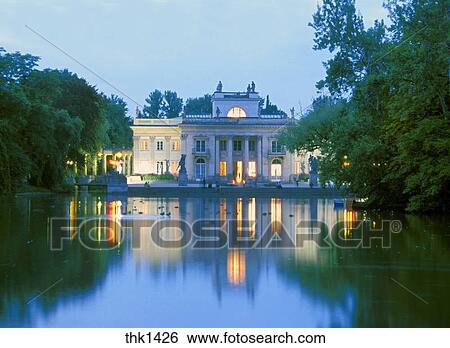 Stock Afbeeldingen Polen Warschau Lazienki Park Thk1426 Zoek