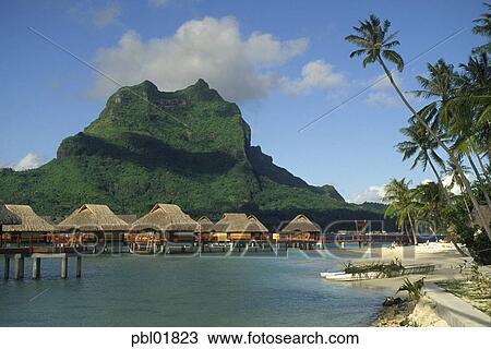 Bora Bora Lagoon Resort Bora Bora French Polynesia Stock