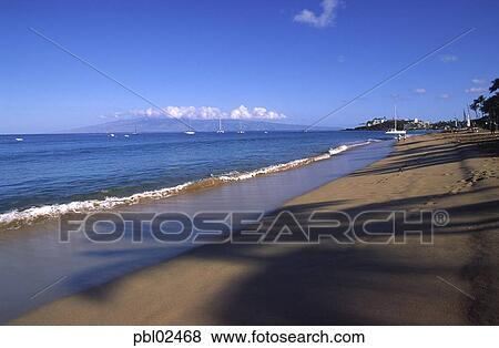 Kaanapali Beach Maui Hawaii Stock Photo Pbl02468