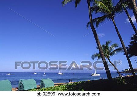Kaanapali Beach Maui Hawaii Stock Photo Pbl02599