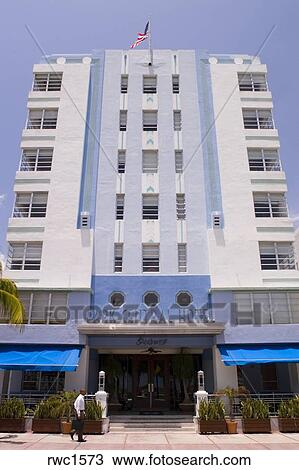 Miami Beach Florida Usa The Park Central Hotel Building Art Deco Architecture Ocean Drive South