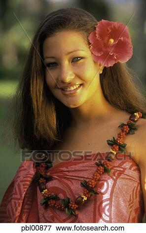 Polynesian Frau Hawaii Bild Pbl00877