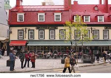 Stock Images Of Quebec City Quebec Canada Auberge Du Tresor