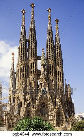 Architekt Barcelona stock foto spain barcelona dass sagrada familia kirche