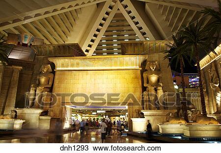 Interior of the Luxor hotel and casino Las Vegas, Nevada Stock Image  dnh1293  Fotosearch