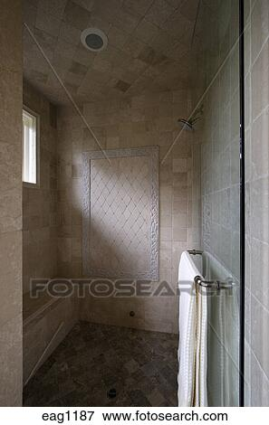 Picture of SHOWER STALL with high end TILE WORK in a CALIFORNIA ...