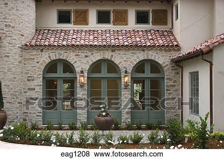 full length windows floor length picture wooden window shutters full length windows and spanish style tile roof california pictures of