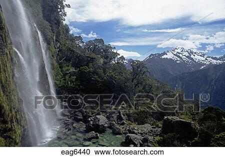 Spectacular Earland Falls Mt Christina Along The Routeburn