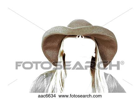 Stock foto lang blond haar tiener meisje vervelend een hat model released aac6634 - Foto tiener ruimte meisje ...