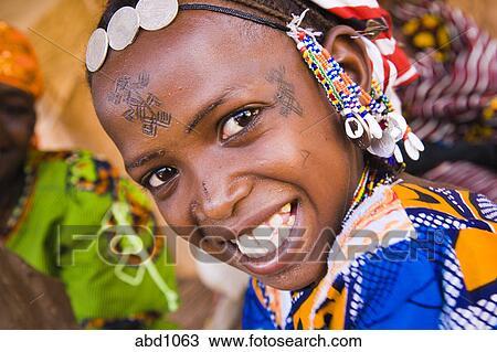 Facial scarring in fulani tribe