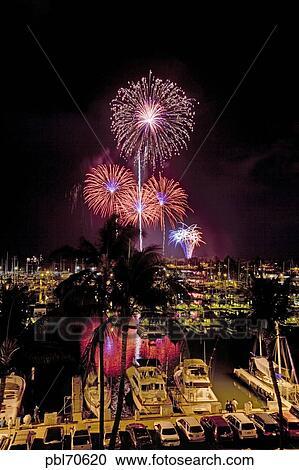 Fourth Of July Fireworks Display Ala Wai Yacht Harbor Waikiki Honolulu Oahu Hawaii Fourth Of July Fireworks Display Ala Wai Yacht Harbor Waikiki Honolulu Oahu Hawaii Fourth Of July Fireworks Display Ala